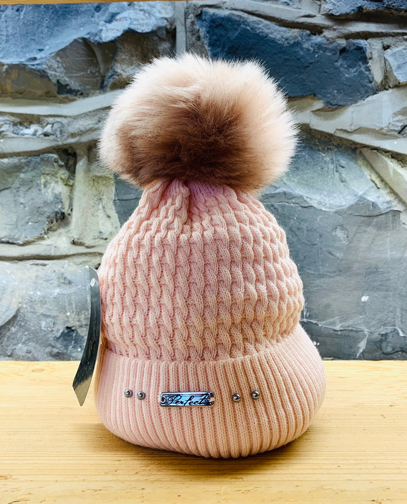 Perfect Baby Pink Bobble Hat