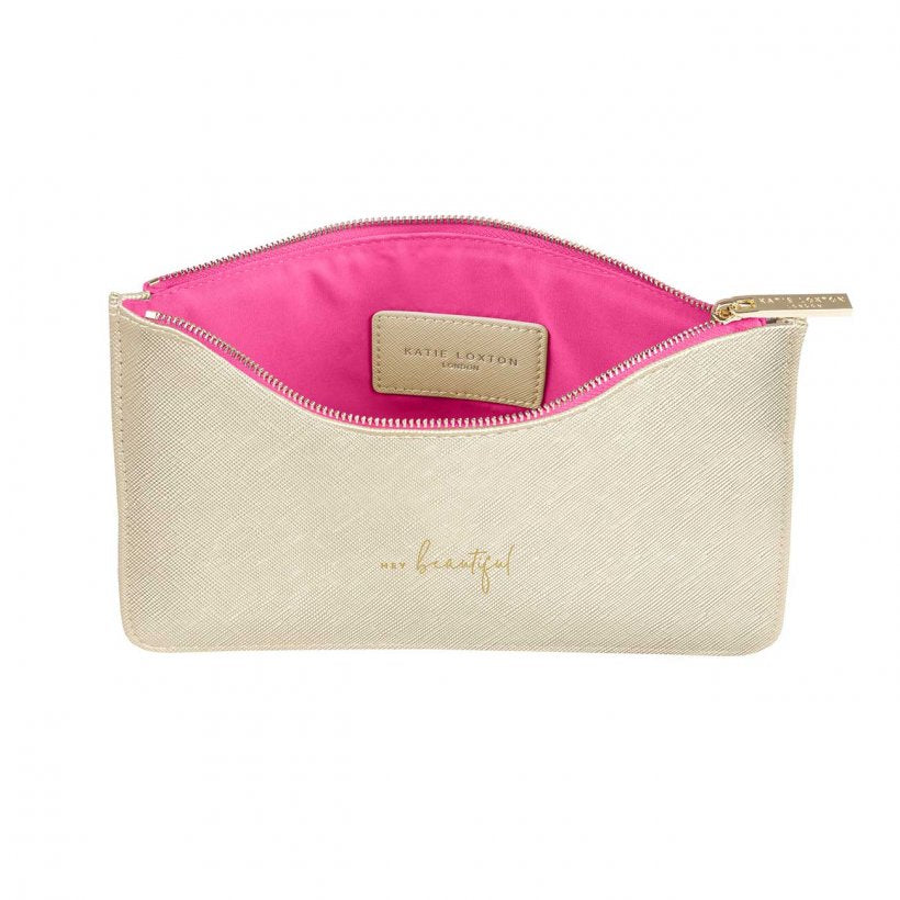 Katie Loxton Hey Beautiful Pouch Gold