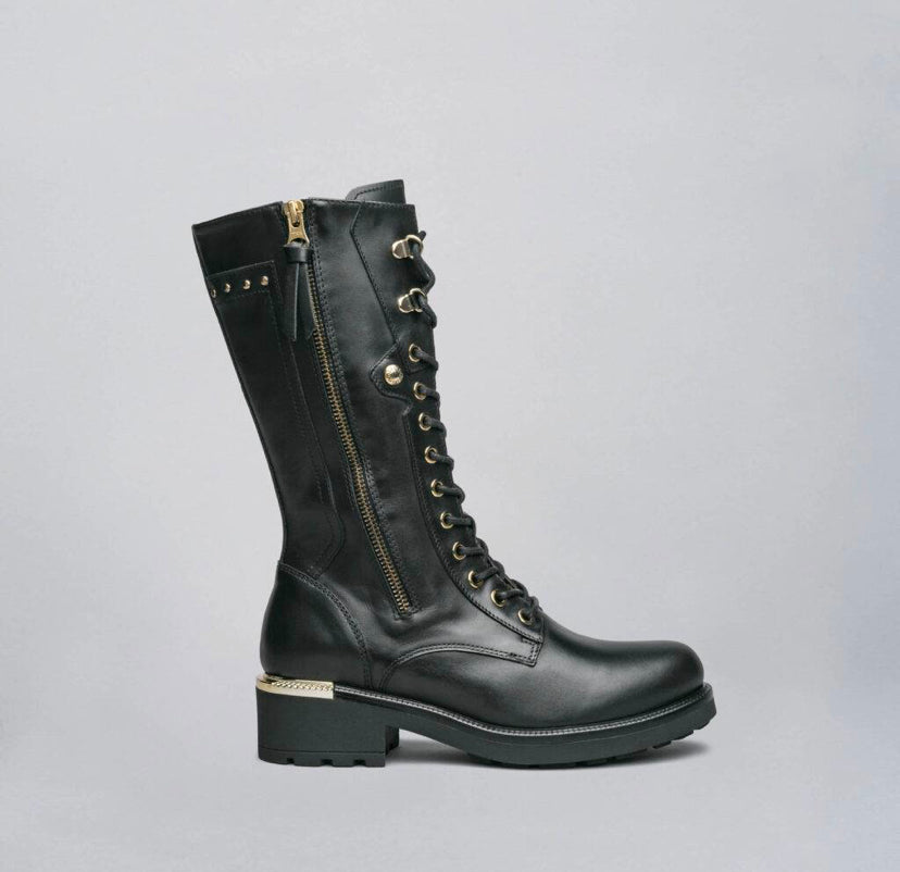 NeroGiardini Mid Guanto Nero Gold Boots *TO PRE-ORDER IF YOUR SIZE IS SOLD OUT E-MAIL US VIA OUR WEBSITE *