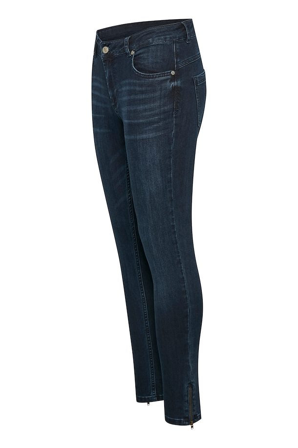 Denim Hunter Celina Zip Dark Blue Wash