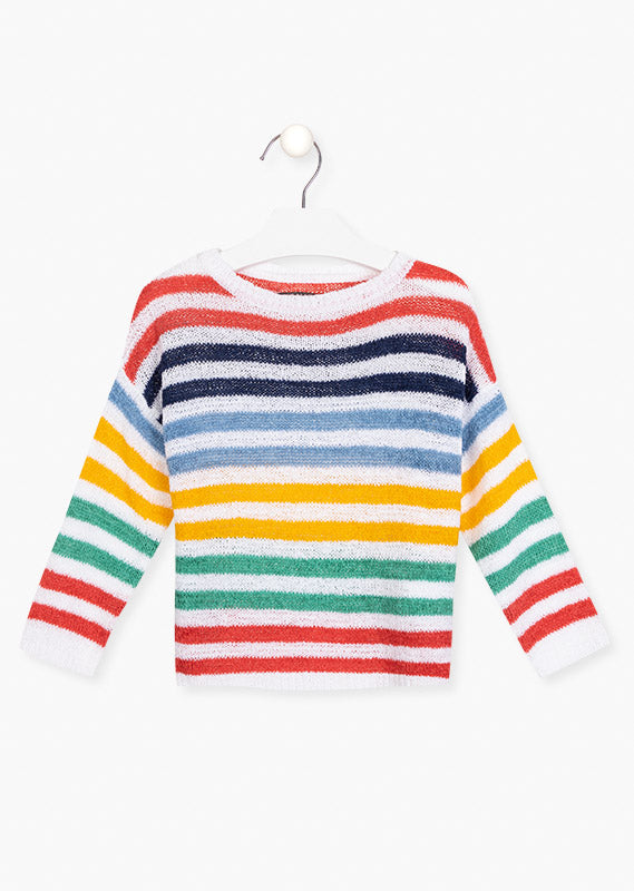 Losan Stripped Rainbow Jumper