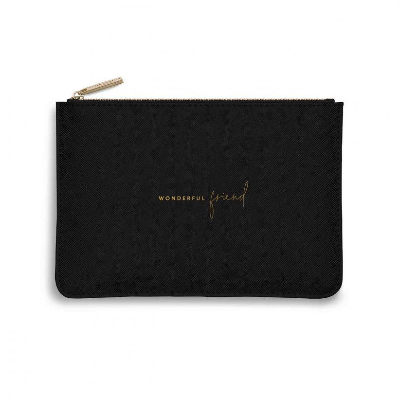 Katie Loxton Wonderful Friend Pouch Black
