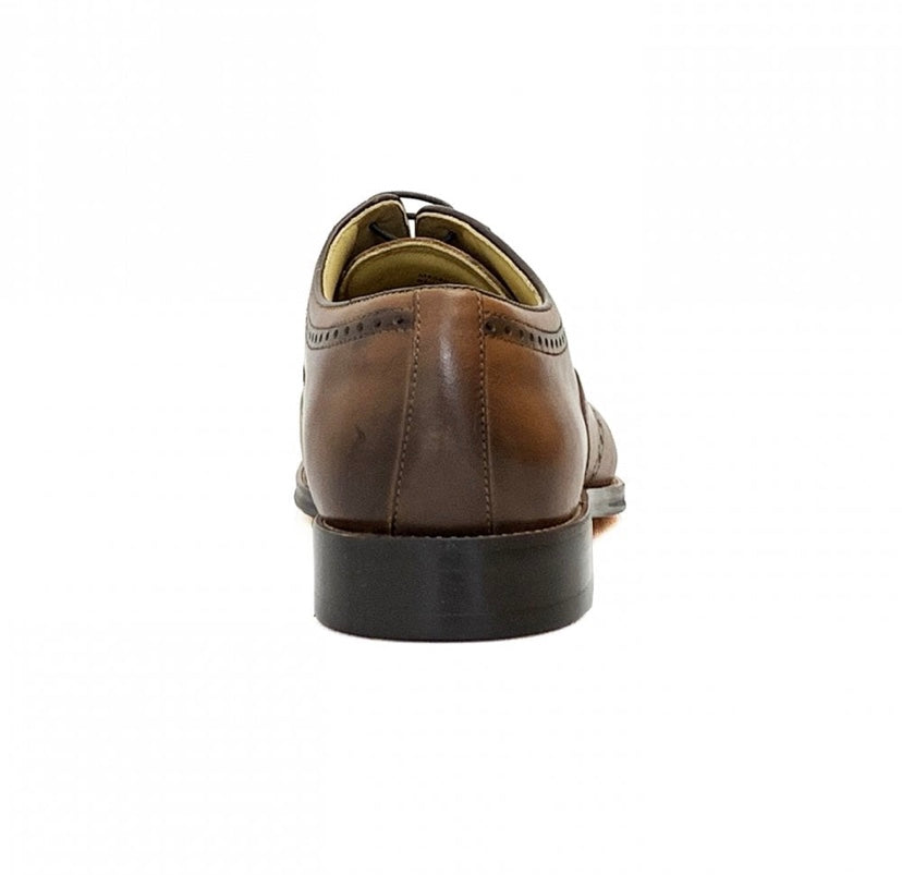 Steptronic Neil Cognac Crust Leather Shoes