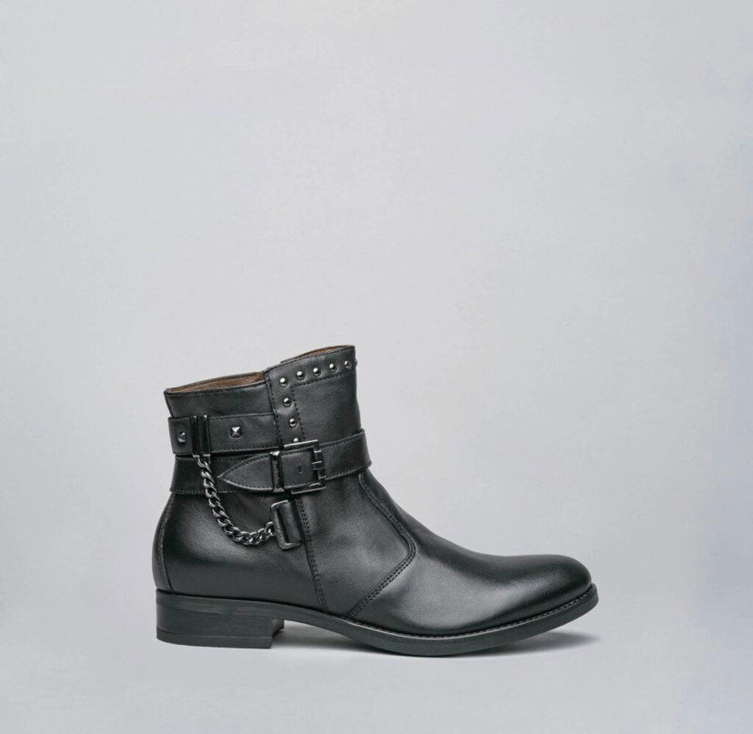 NeroGiardini Sagar Deco Nero Leather Boots *TO PRE-ORDER IF YOUR SIZE IS SOLD OUT E-MAIL US VIA OUR WEBSITE *