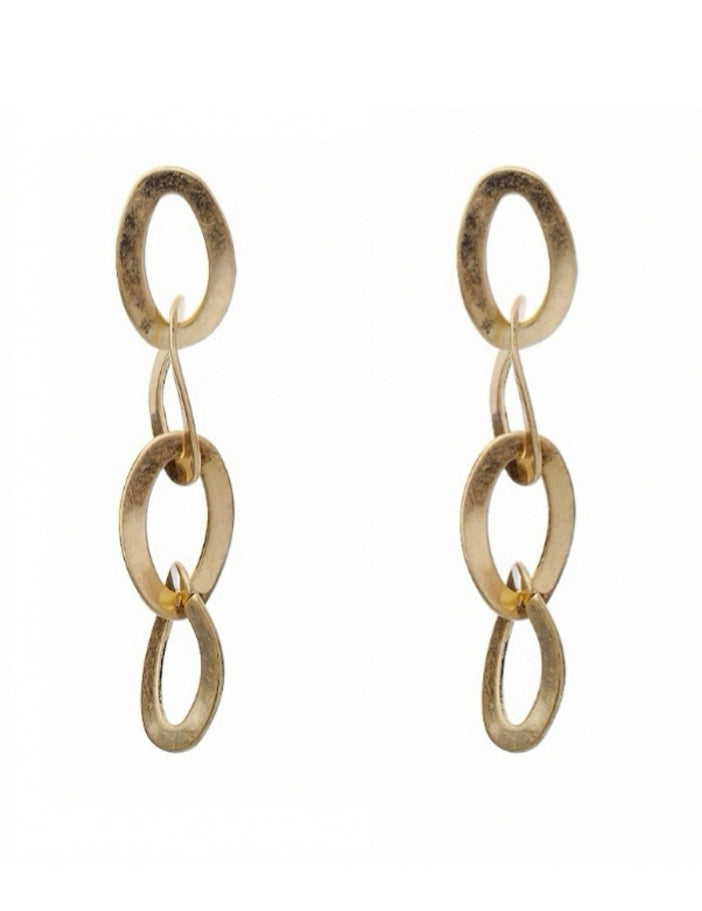 Oval Chain Earrings