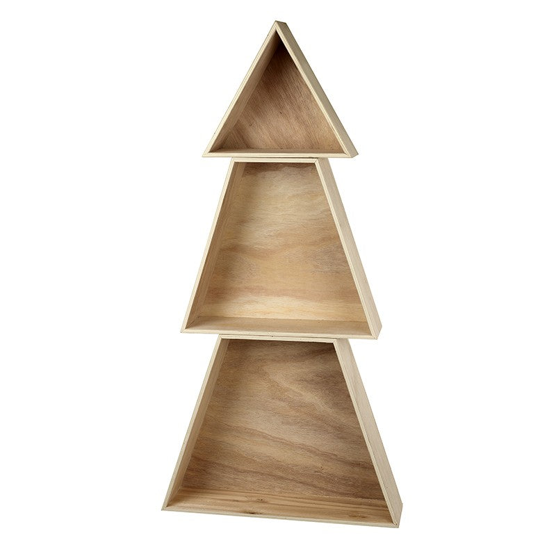 Wooden Tree Shape Shelves
