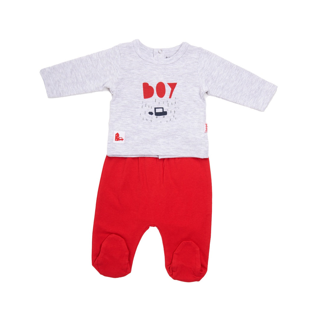 Babybol Red & Grey 2 Piece Set