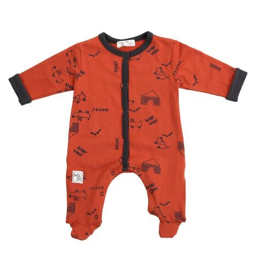 BabyBol boys one piece orange