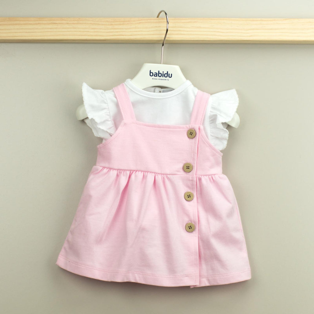 Babidu Pink Dress with White Top