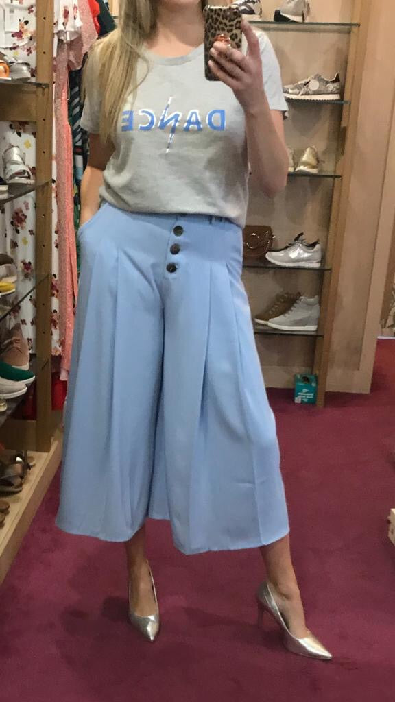 PA Denim Trousers with Wide Leg