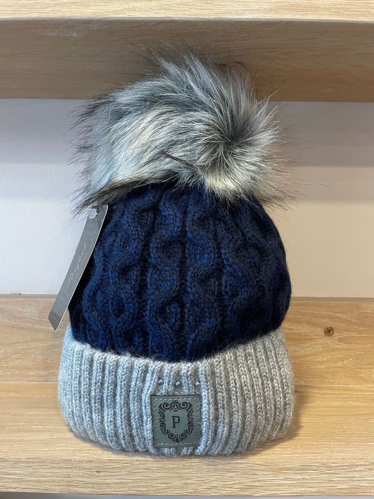 Perfect Blue/Grey Bobble Hat