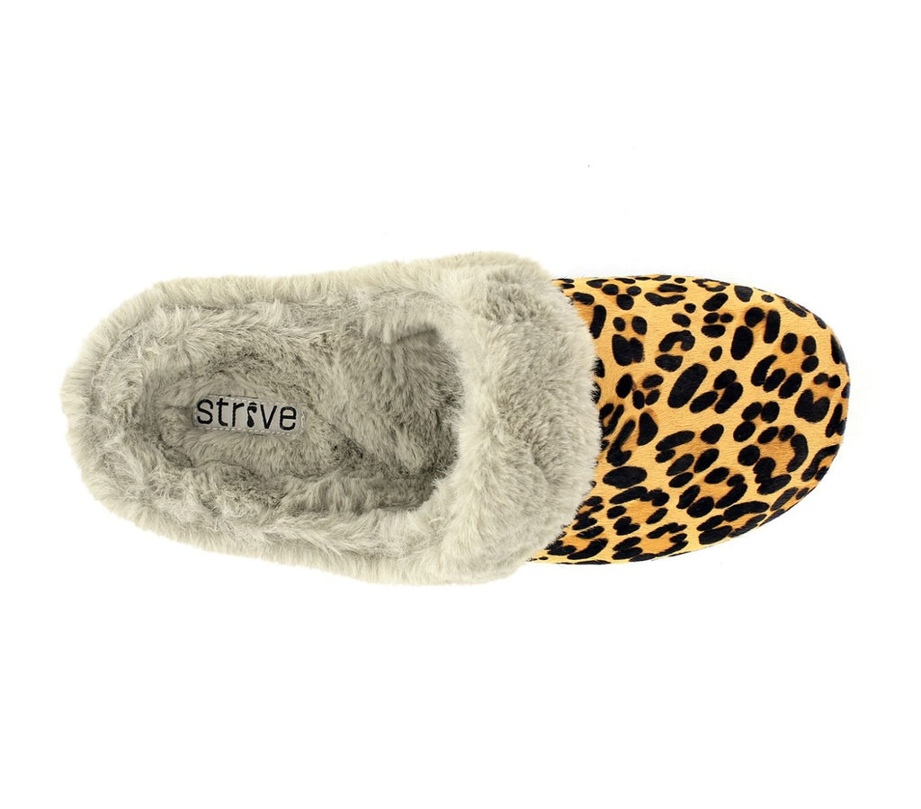 Strive Oslo Leopard Print Slippers