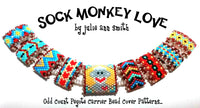 SOCK MONKEY LOVE Carrier Bead Patterns