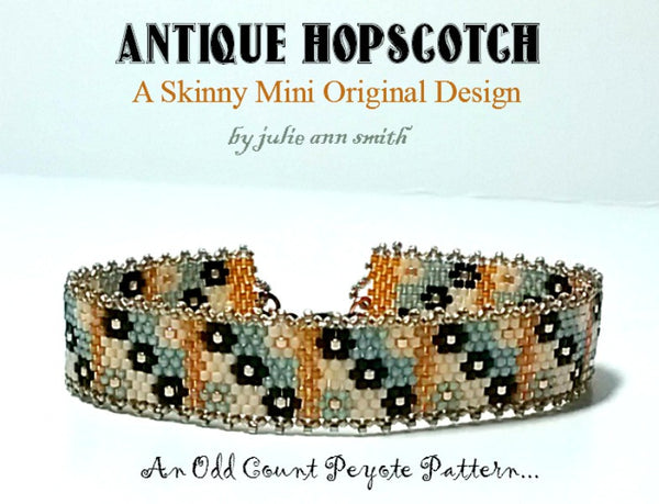 ANTIQUE HOPSCOTCH Skinny Mini Bracelet Pattern