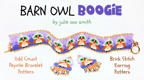 BARN OWL BOOGIE Bracelet and Brick Stitch Pattern