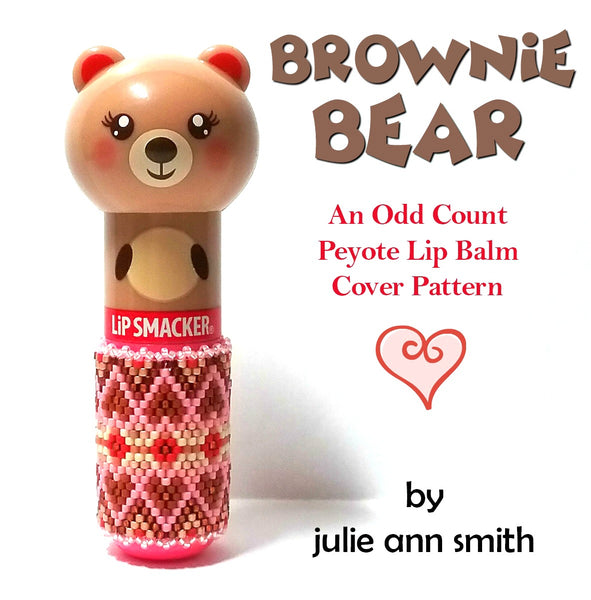 BROWNIE BEAR Lip Balm Cover Pattern