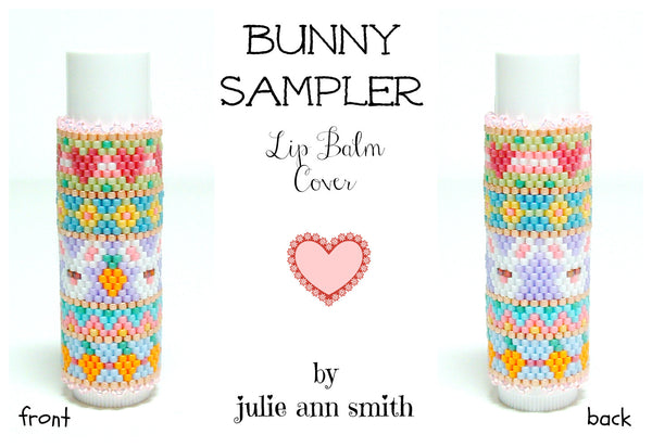 BUNNY SAMPLER Lip Balm Cover Pattern
