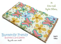 BUTTERFLY FRENZY Business Card Sleeve Pattern