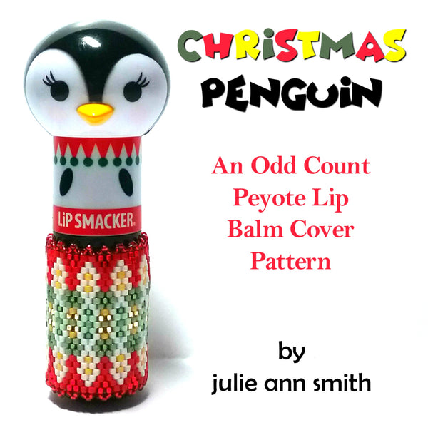 CHRISTMAS PENGUIN Lip Balm Cover Pattern