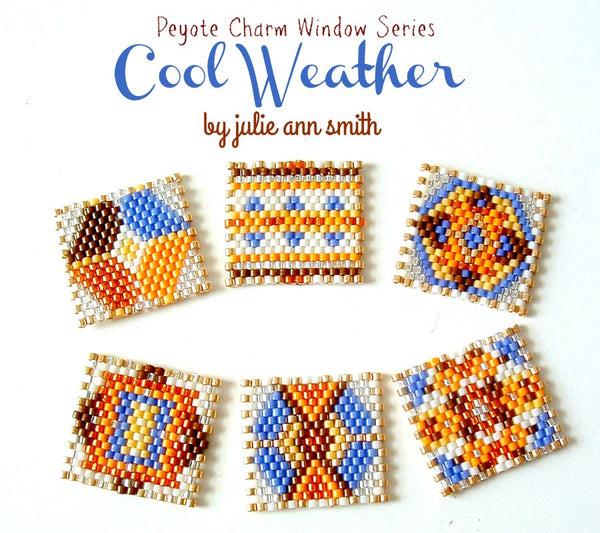 COOL WEATHER Peyote Charm Windows Pattern