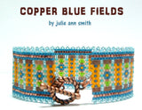 COPPER BLUE FIELDS Bracelet Pattern