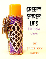 CREEPY SPIDER LIPS Lip Balm Cover Pattern