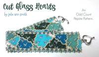 CUT GLASS HEARTS Bracelet Pattern