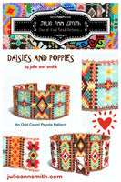DAISIES AND POPPIES Bracelet Pattern