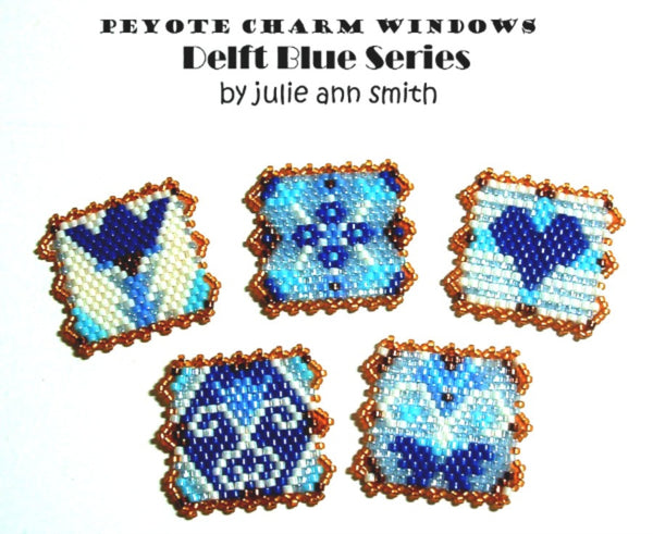 DELFT BLUE SERIES Peyote Charm Windows Pattern