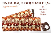 FAIR ISLE SQUIRRELS Bracelet Pattern