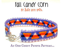 FALL CANDY CORN Skinny Mini Bracelet Pattern