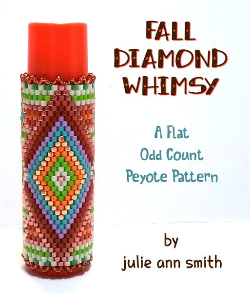 FALL DIAMOND WHIMSY Lip Balm Cover Pattern