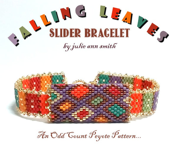 FALLING LEAVES Slider Bracelet Pattern
