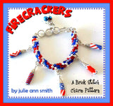 FIRECRACKERS Brick Stitch Charms Pattern