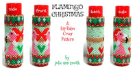 FLAMINGO CHRISTMAS Lip Balm Cover Pattern