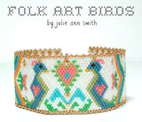 FOLK ART BIRDS Bracelet Pattern