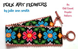FOLK ART FLOWERS Bracelet Pattern