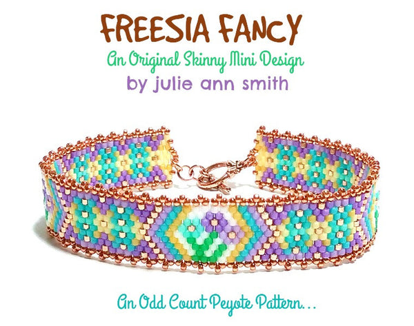 FREESIA FANCY Skinny Mini Bracelet Pattern