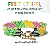 FRUIT STRIPES Skinny Mini Bracelet Pattern