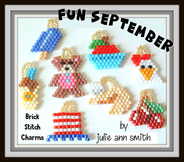 FUN SEPTEMBER Brick Stitch Charms Pattern