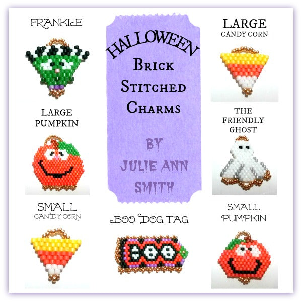 HALLOWEEN CHARMS Brick Stitch Pattern