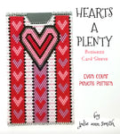 HEARTS A PLENTY Business Card Sleeve Pattern
