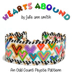 HEARTS ABOUND Bracelet Pattern