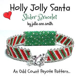 HOLLY JOLLY SANTA Slider Bracelet Pattern