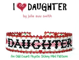 I HEART DAUGHTER Skinny Mini Bracelet Pattern