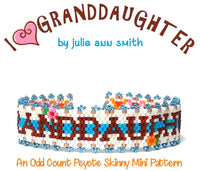I HEART GRANDDAUGHTER Skinny Mini Bracelet Pattern