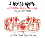 I HEART MOM Skinny Mini Bracelet Pattern