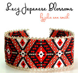 LACY JAPANESE BLOSSOMS Bracelet Pattern
