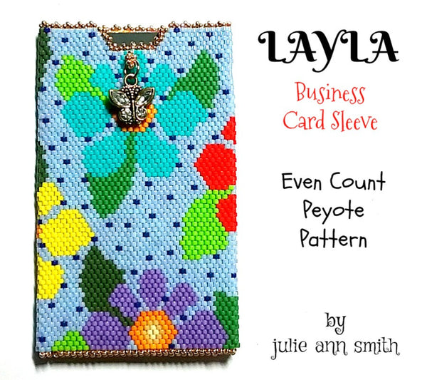 LAYLA Business Card Sleeve Pattern