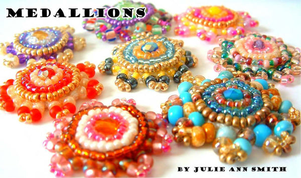 MEDALLIONS Bead Crochet and Bead Embroidery Pattern
